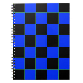 Blue and Black Checkered Notebook