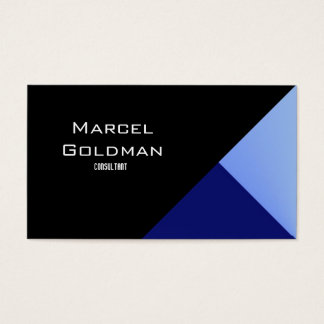 Blue and black city finance business card