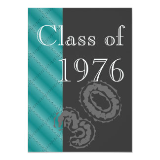 Blue and black Class reunion party Card