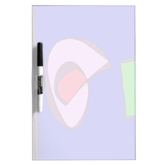Blue and Black Contrast Dry Erase Board
