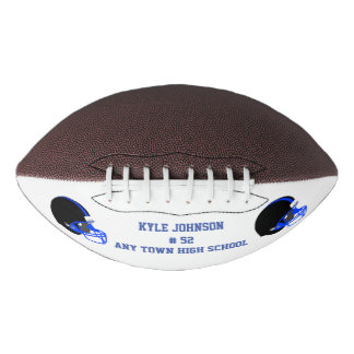 Blue and Black Customized Football