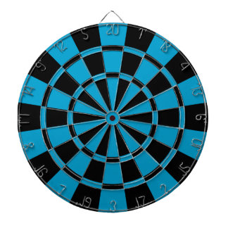 Blue And Black Dart Boards