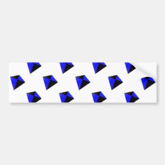 Blue and Black Diamond Kites Pattern Bumper Sticker