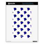 Blue and Black Diamond Kites Pattern NOOK Color Skin