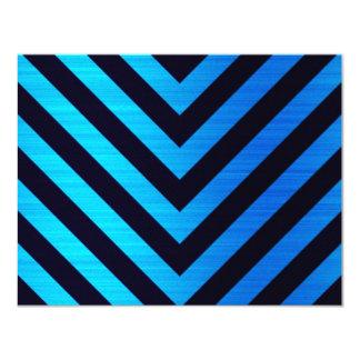 Blue and Black Downward Hazard Stripes Card