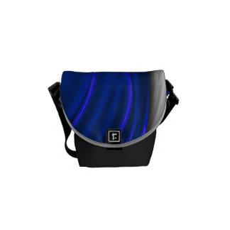 Blue and Black Drape Zero Messenger Bag