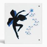 Blue and Black Fairy Binder