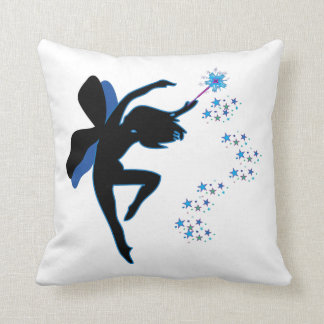 Blue and Black Fairy Pillow
