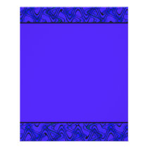 Blue and Black Geometric Wave Pattern Flyer