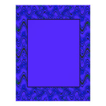 Blue and Black Geometric Wave Pattern Flyer