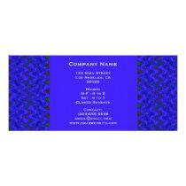 Blue and Black Geometric Wave Pattern Rack Card
