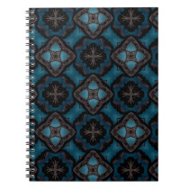 Blue and black Gothic medieval fantasy Notebook