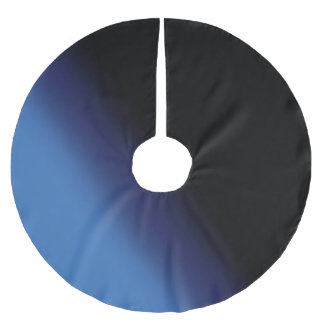 Blue and Black Gradient Brushed Polyester Tree Skirt