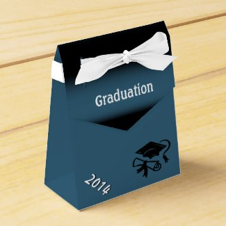 Blue and Black Graduation Personalized Favor Box
