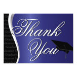 Blue and Black Graduation Thank You Personalized Announcement