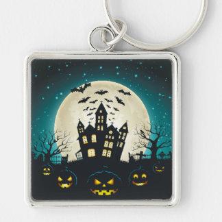 Blue and Black Halloween Keychain