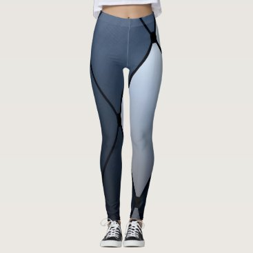 USA Themed Blue and Black Harlequin Leggins Leggings