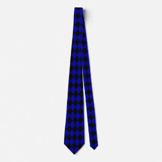 Blue and Black Harlequin Neck Tie