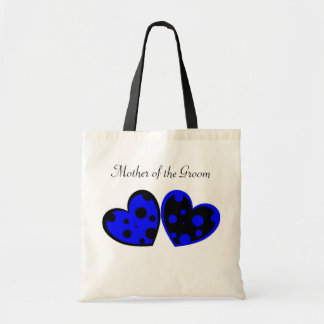 Blue And Black Hearts Bag