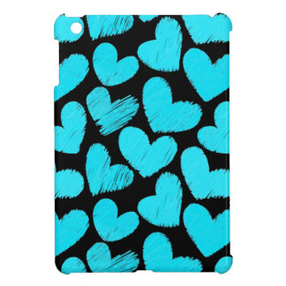 Blue and black hearts iPad Mini Case