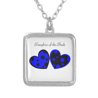 Blue And Black Hearts Necklace