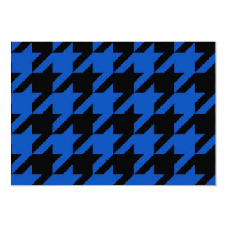 Blue and Black Houndstooth Patterned Card