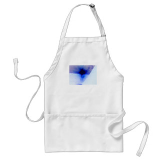 blue and black ink spot adult apron