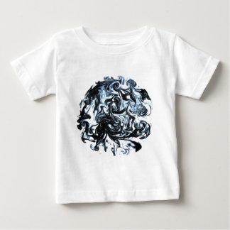Blue and Black Ink Swirl Infant T-shirt