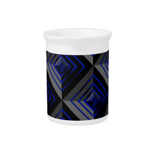 Blue and Black Layers Beverage Pitchers