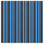 [ Thumbnail: Blue and Black Lined/Striped Pattern Fabric ]
