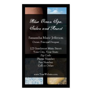 Blue and Black Luxury Spa Resort Theme Business Card Templates