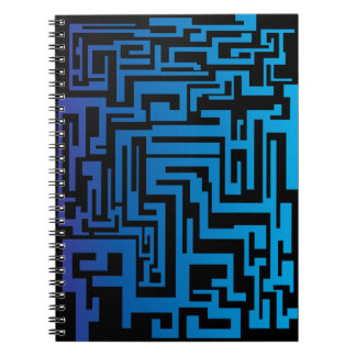Blue and Black Maze Notebook