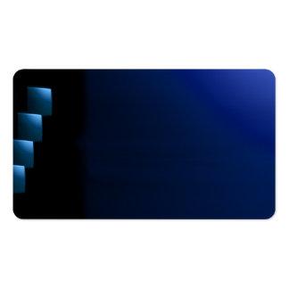 Blue and Black Modern Unusual Visual Biz Card
