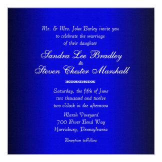 Blue and Black Modern Wedding Invitation