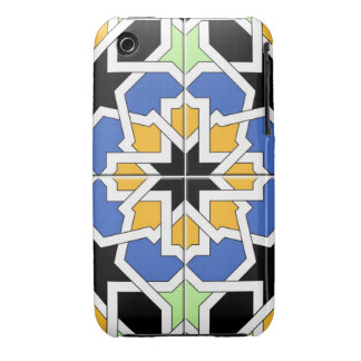Blue and black Moroccan tile mosaic 02 in