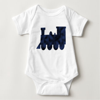 Blue and Black Mottled Train Tee Shirt