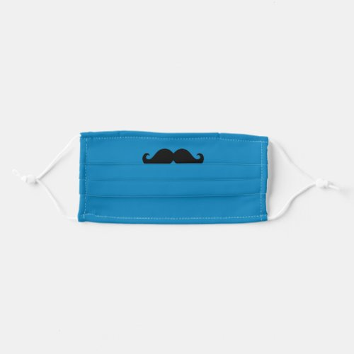 Blue and Black Mustache Cloth Face Mask