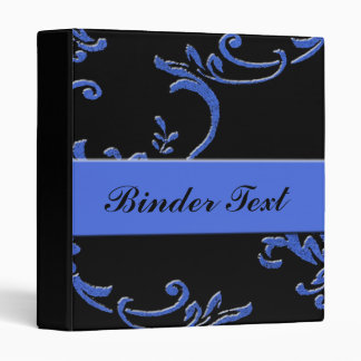 Blue and Black Pailsley Binder