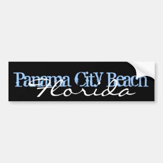 Blue and Black PCB Panama City Beach Florida Bumper Sticker