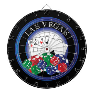 Blue and Black Poker Dart Board