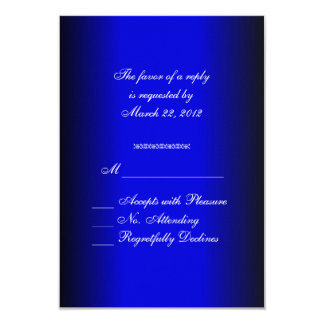 Blue and Black RSVP Card