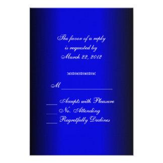 Blue and Black RSVP Invitations