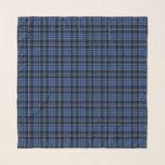 "Blue And Black Scottish Tartan Plaid Pattern Scarf<br><div class=""desc"">Square chiffon scarf with a blue and black Scottish tartan plaid pattern.</div>"