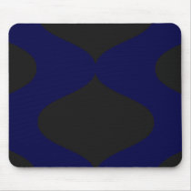 Blue and Black Smooch Mouse Pad