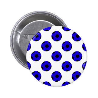 Blue and Black Soccer Ball Pattern Buttons