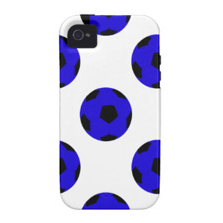 Blue and Black Soccer Ball Pattern iPhone 4/4S Cover