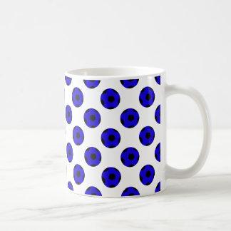Blue and Black Soccer Ball Pattern Coffee Mug