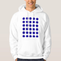 Blue and Black Soccer Ball Pattern Hoodie