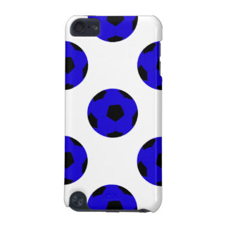 Blue and Black Soccer Ball Pattern iPod Touch (5th Generation) Case