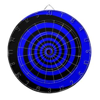 Blue and Black Spiral Dart Board